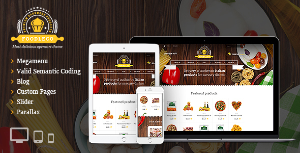 Foodleco - Italian Food OpenCart theme