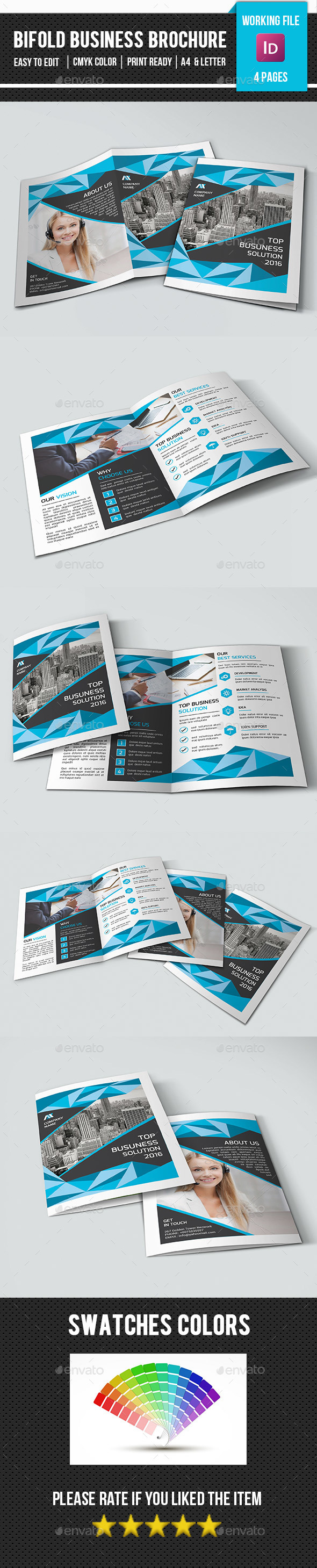 Bifold Business Brochure Template-V365 - Corporate Brochures