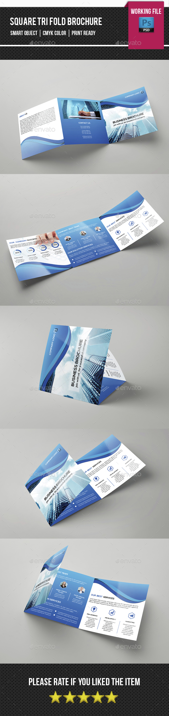 Corporate Square Trifold Brochure-V83 - Corporate Brochures