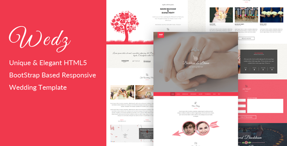 Wedz - Responsive HTML5 Wedding Template - Wedding Site Templates