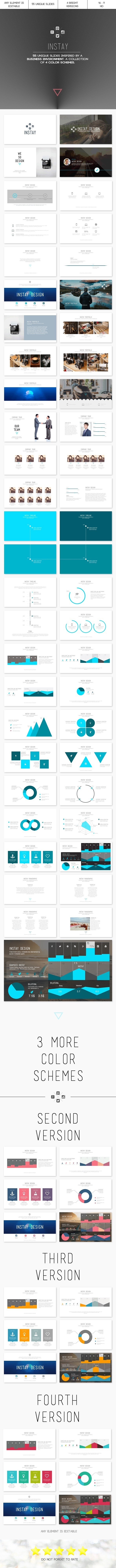 Instay - PowerPoint Template - PowerPoint Templates Presentation Templates