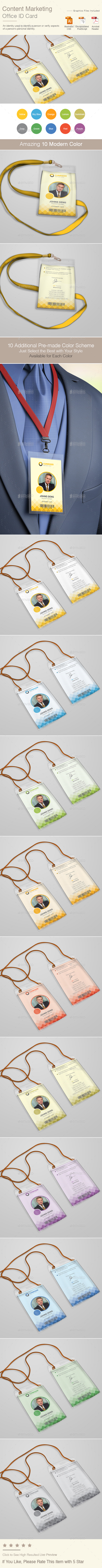 Content Marketing Office ID Card | Volume 2 - Miscellaneous Print Templates