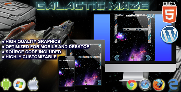 Galactic Maze - HTML5 Arcade Game  - CodeCanyon Item for Sale