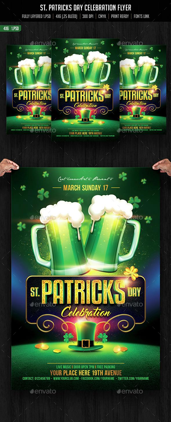 St. Patricks Day Celebration - Events Flyers