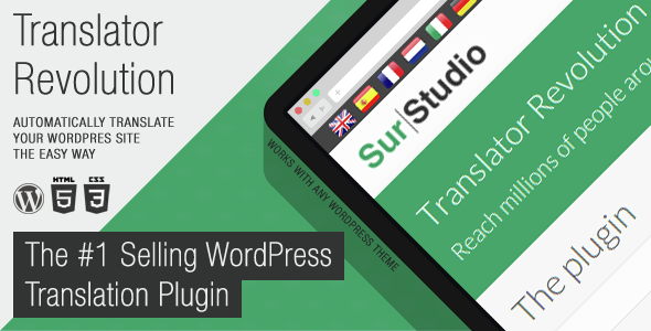 Ajax Translator Revolution DropDown WP Plugin - 3