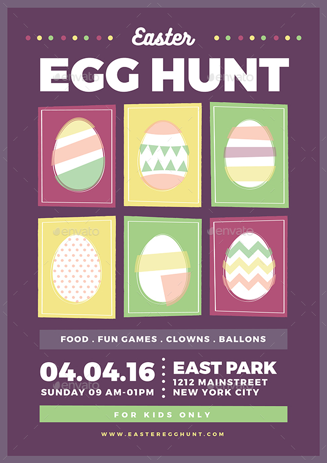 Easter Egg Hunt Flyer by vynetta | GraphicRiver