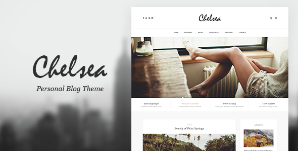 Chelsea - Personal Blog Template for Travelers and Dreamers - Personal PSD Templates