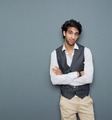 Casual business man standing with arms crossed - PhotoDune Item for Sale