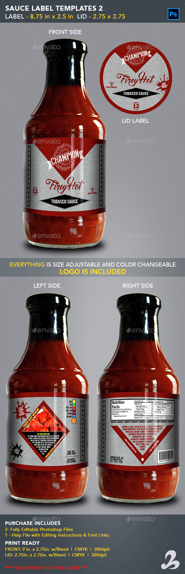 Sauce jar label templates 2 generic by creativb for Bbq sauce label template