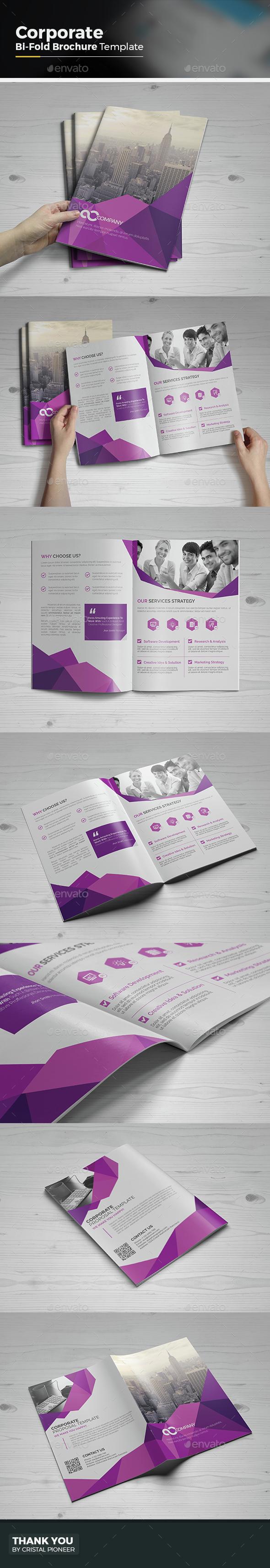 Abstract Bi Fold Brochure - Corporate Brochures