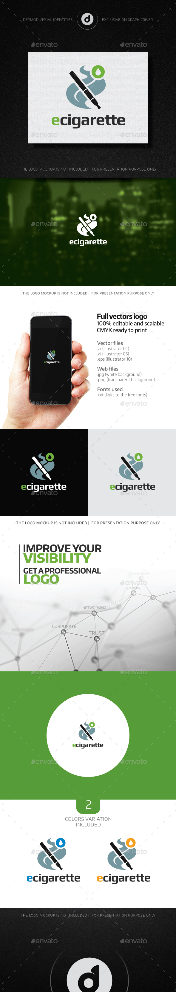 eCigarette Logo - Objects Logo Templates