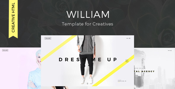 William – Creative Portfolio Template