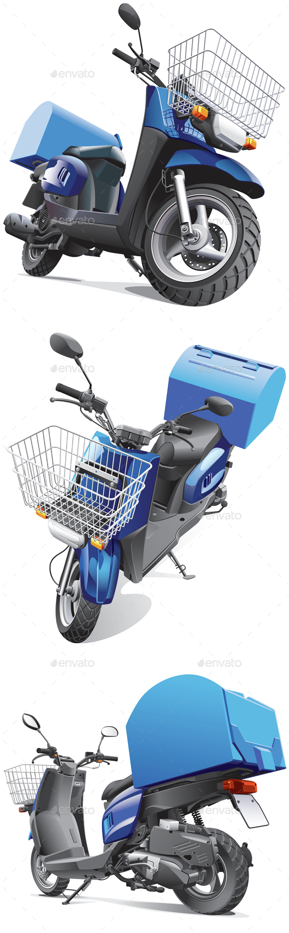 Delivery Scooters Bundle  - Man-made Objects Objects