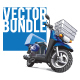 Delivery Scooters Bundle  - GraphicRiver Item for Sale