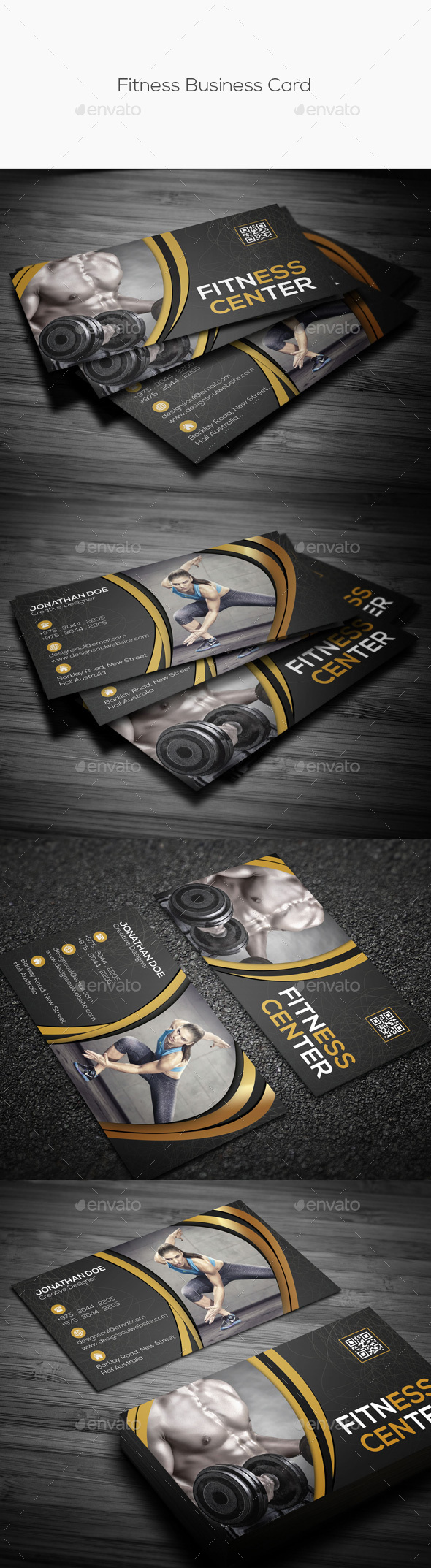Fitness business card by designsoul14 graphicriver fitness business card industry specific business cards colourmoves