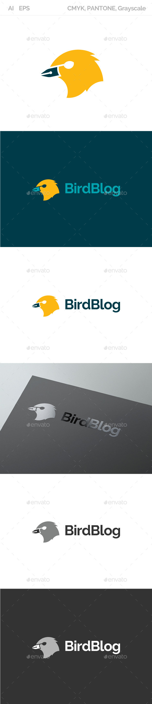 Bird Blog - Animals Logo Templates