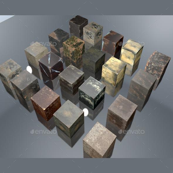 4K size metal texture mega pack - 3DOcean Item for Sale