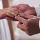 Gold Wedding Rings And Hands Of Just Married Couple - VideoHive Item for Sale