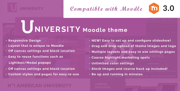 University – Responsive Educational Moodle Theme