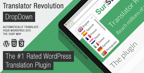 Translator Revolution DropDown WordPress Plugin - CodeCanyon Item for Sale