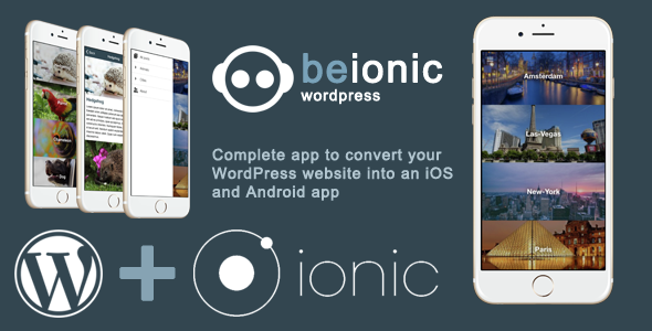Beionic Wordpress : iOS & Android app for your WordPress website - CodeCanyon Item for Sale