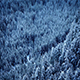 Flying Slowly Over Snowy Forest Valley - VideoHive Item for Sale