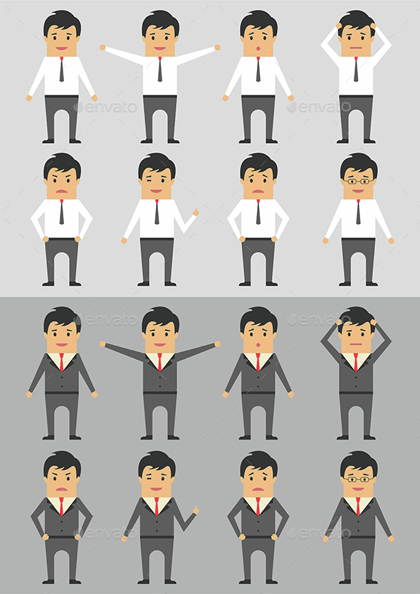 Businessman Character Emotion - People Characters