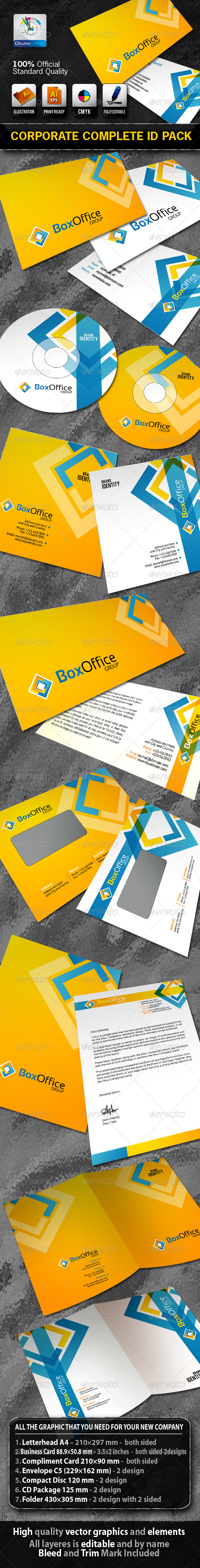 BoxOffice Business Corporate ID Pack + Logo  - Stationery Print Templates