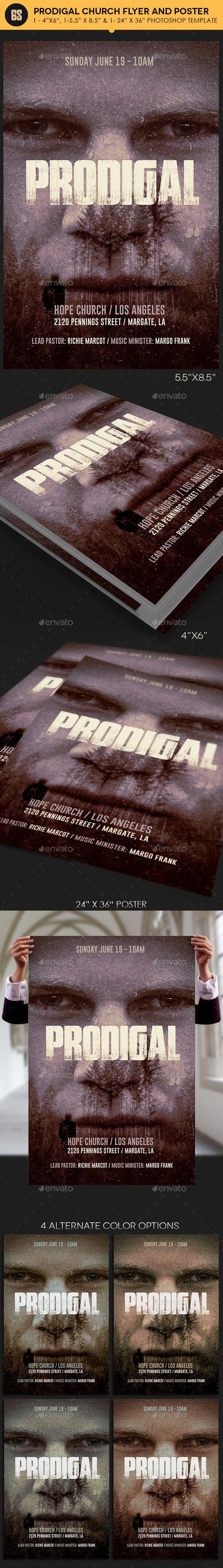 Prodigal Church Flyer Poster Template - Church Flyers