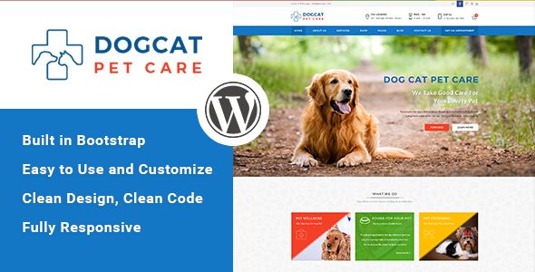 Pet Care – Veterinary WordPress Theme