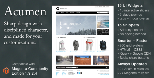 Free Download Acumen - The Highly Extensible Magento Theme Nulled Latest Version