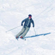 Skier On Mountainside - VideoHive Item for Sale