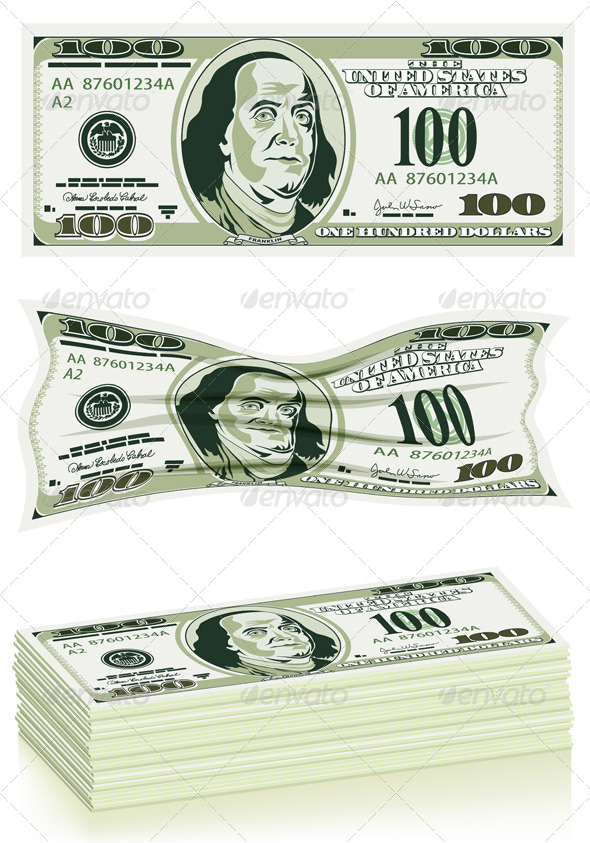 Set of Dollar Bills - Concepts Business
