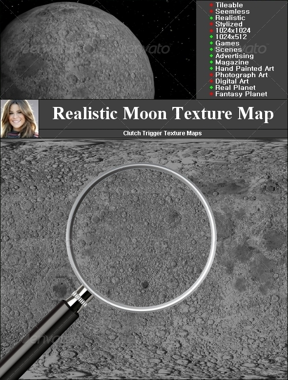 Earth Moon Texture - 3DOcean Item for Sale