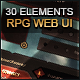 MMO RPG Grunge Web Interface - GraphicRiver Item for Sale