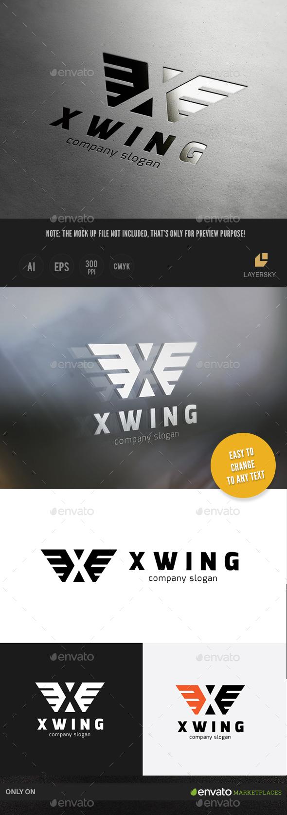 X Wing Logo - Symbols Logo Templates