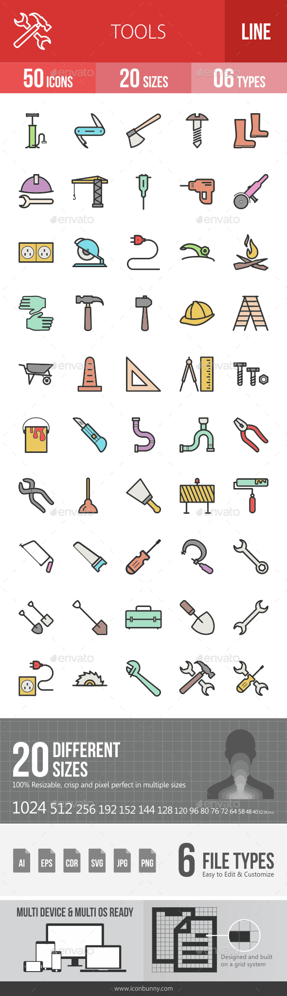 Tools Filled Line Icons - Icons