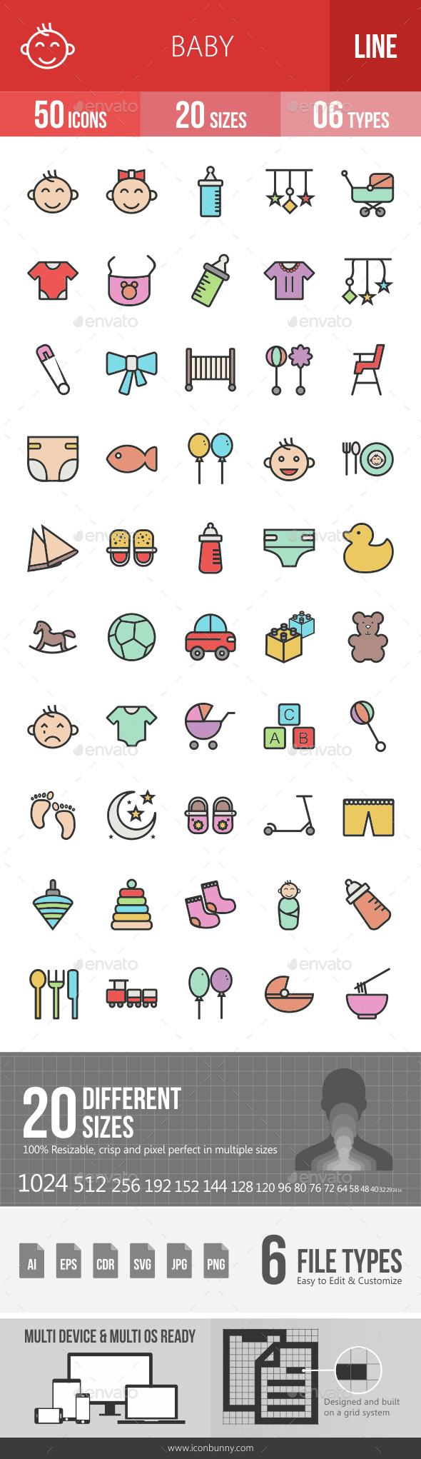 Baby Filled Line Icons - Icons