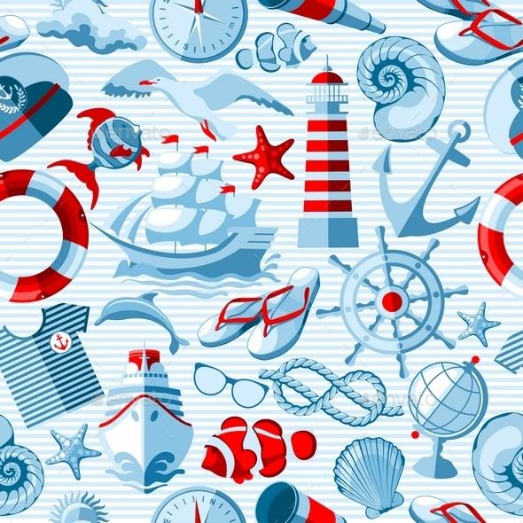 Nautical Seamless Background - Patterns Decorative