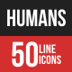 Humans Filled Line Icons