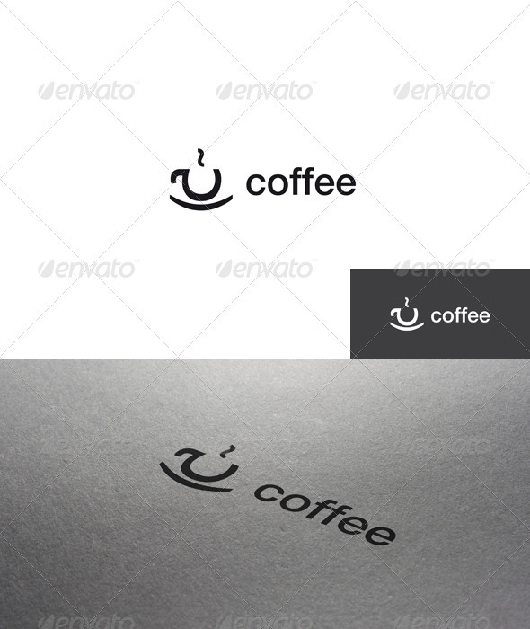 Letter Coffee Logo - Letters Logo Templates