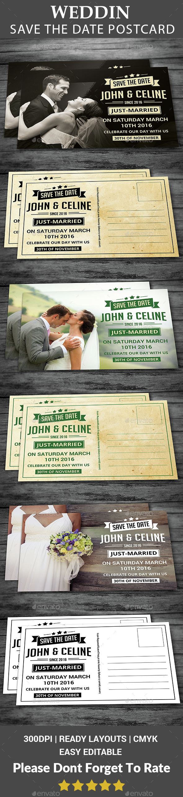 Save The Date Postcard - Weddings Cards & Invites