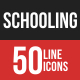 Schooling Filled Line Icons