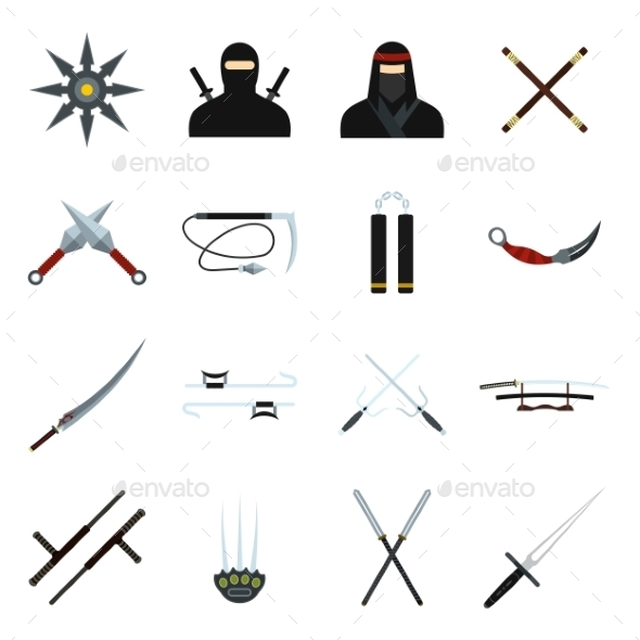 Ninja Flat Icons Set - Miscellaneous Icons