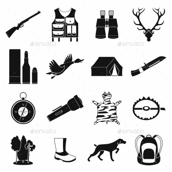 Hunting Black Simple Icons - Miscellaneous Icons