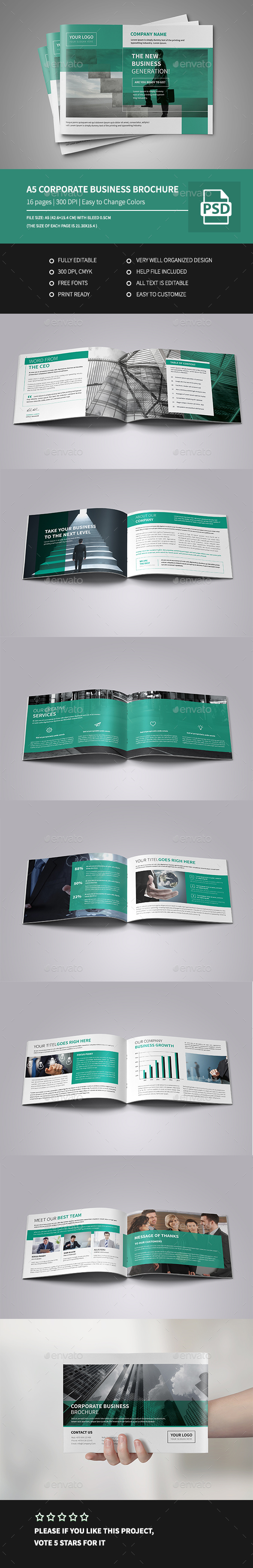 A5 Corporate Business Brochure  - Corporate Brochures