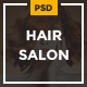 Hair Salon - Elegant PSD Template - ThemeForest Item for Sale