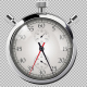 60 Second Countdown Clock - Silver Stop Watch - VideoHive Item for Sale