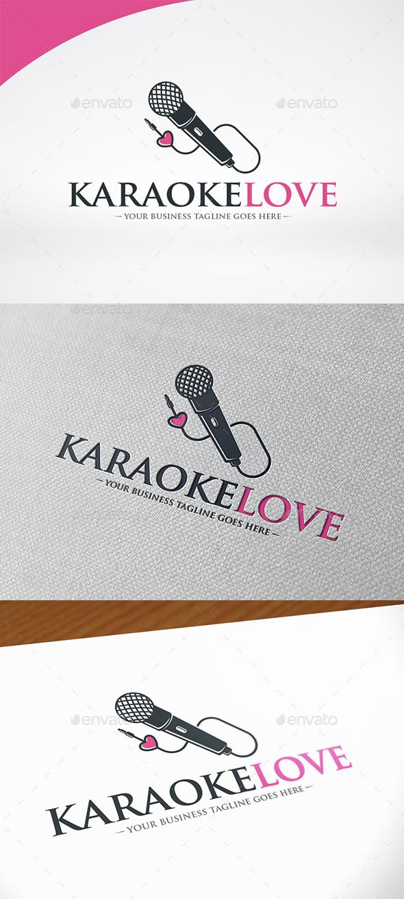 Karaoke Love Logo Template - Objects Logo Templates
