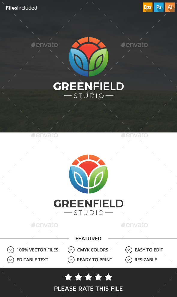 Green Field Logo - Nature Logo Templates